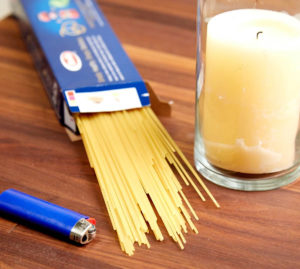 Can you light a candle with spaghetti?